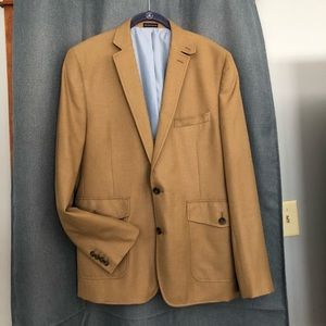 Stafford Men's Blazer - Tan - 44 Long - New